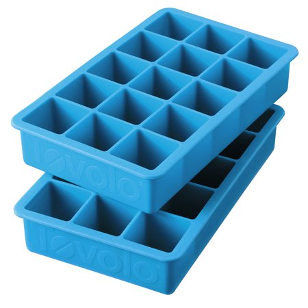 Tovolo Perfect Cube Silicone Ice Trays Set of 2, Ice (Silicone Ice)