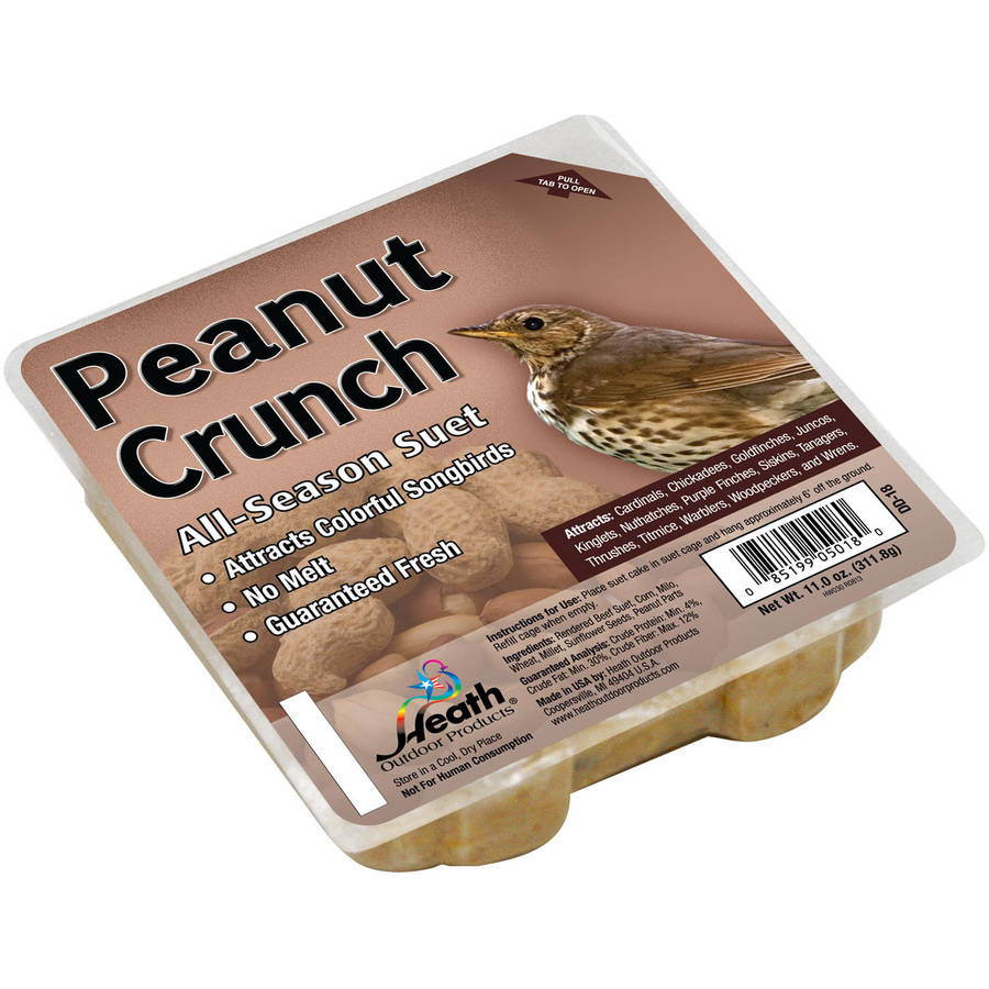 Heath Outdoor Products Peanut Crunch Suet Cake