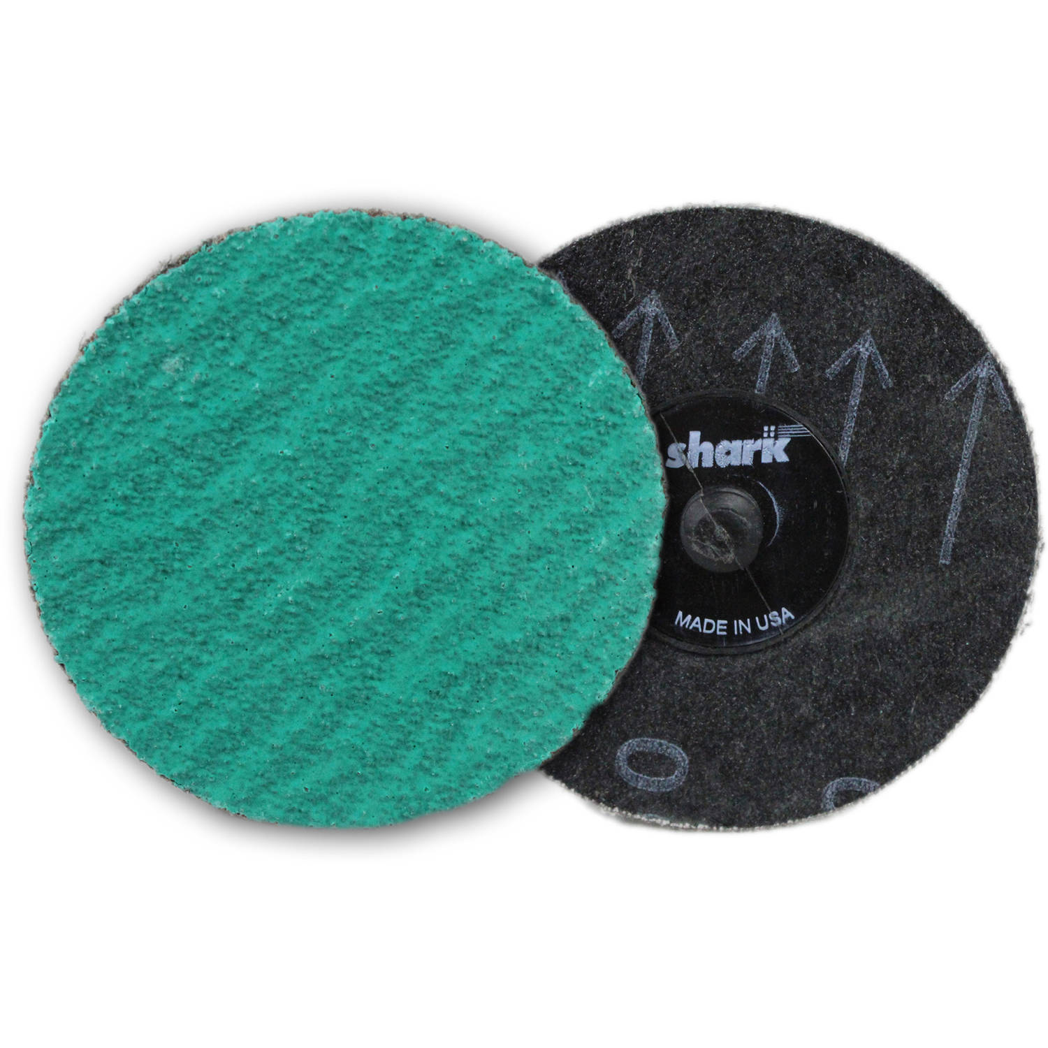 "Shark Green Zirconia Mini Grinding Discs, 3"", 25-Pack, 50 Grit"