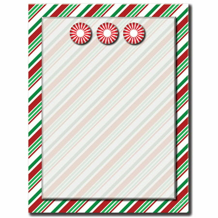Seasonal Stripes Letterhead Laser & Inkjet Printer Paper