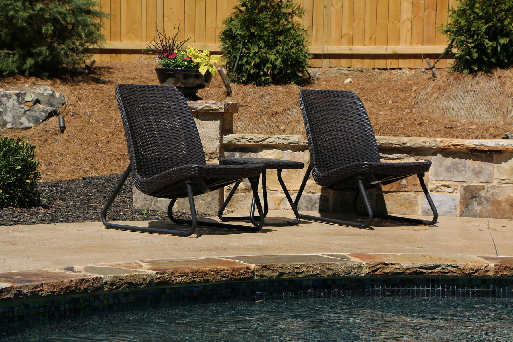 Keter Rio Resin 3-Piece Conversation Set, All-Weather Plastic Patio ...