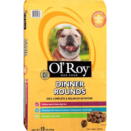 Ol' Roy Dinner Rounds Dry Dog Food, 15-Pound