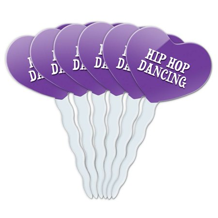 Hip Hop Dancing Heart Love Cupcake Picks Toppers - Set of (Cast Members Of Love And Hip Hop Hollywood)