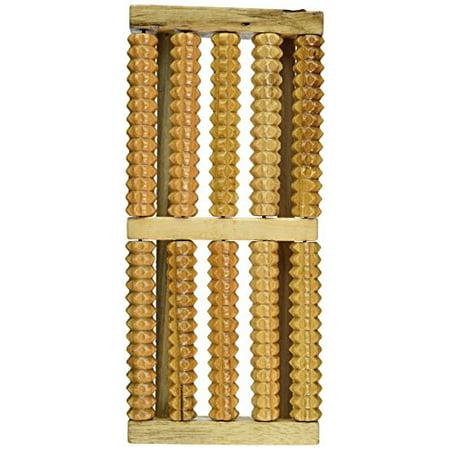OTC Acupressure Roller Wood Foot Massage Stress Relief, 5 Wooden Rollers (Otc Stress Relief)