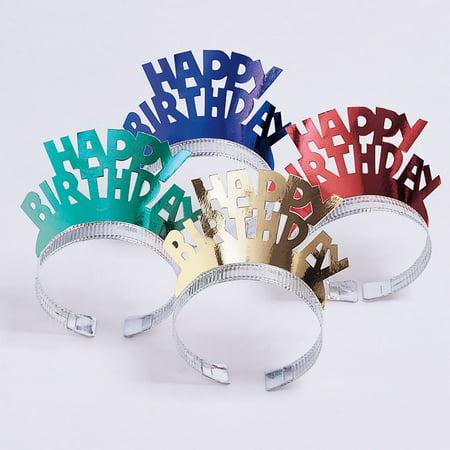 Foil Birthday Tiara, 4 pk - Tiara Birthday