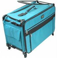 TUTTO Machine On Wheels Case, Turquoise
