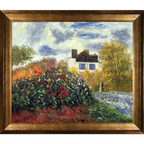 Tori Home The Artist's Garden by Claude Monet Framed Painting Print