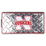 Nebraska Corn Huskers Diamond Embossed License Plate