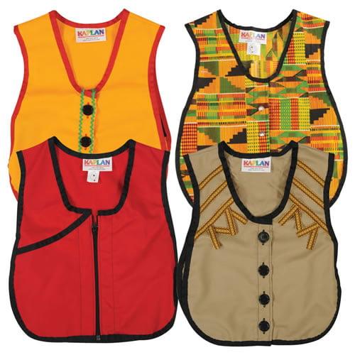 Multicultural Dressing Vests (Set of 4)