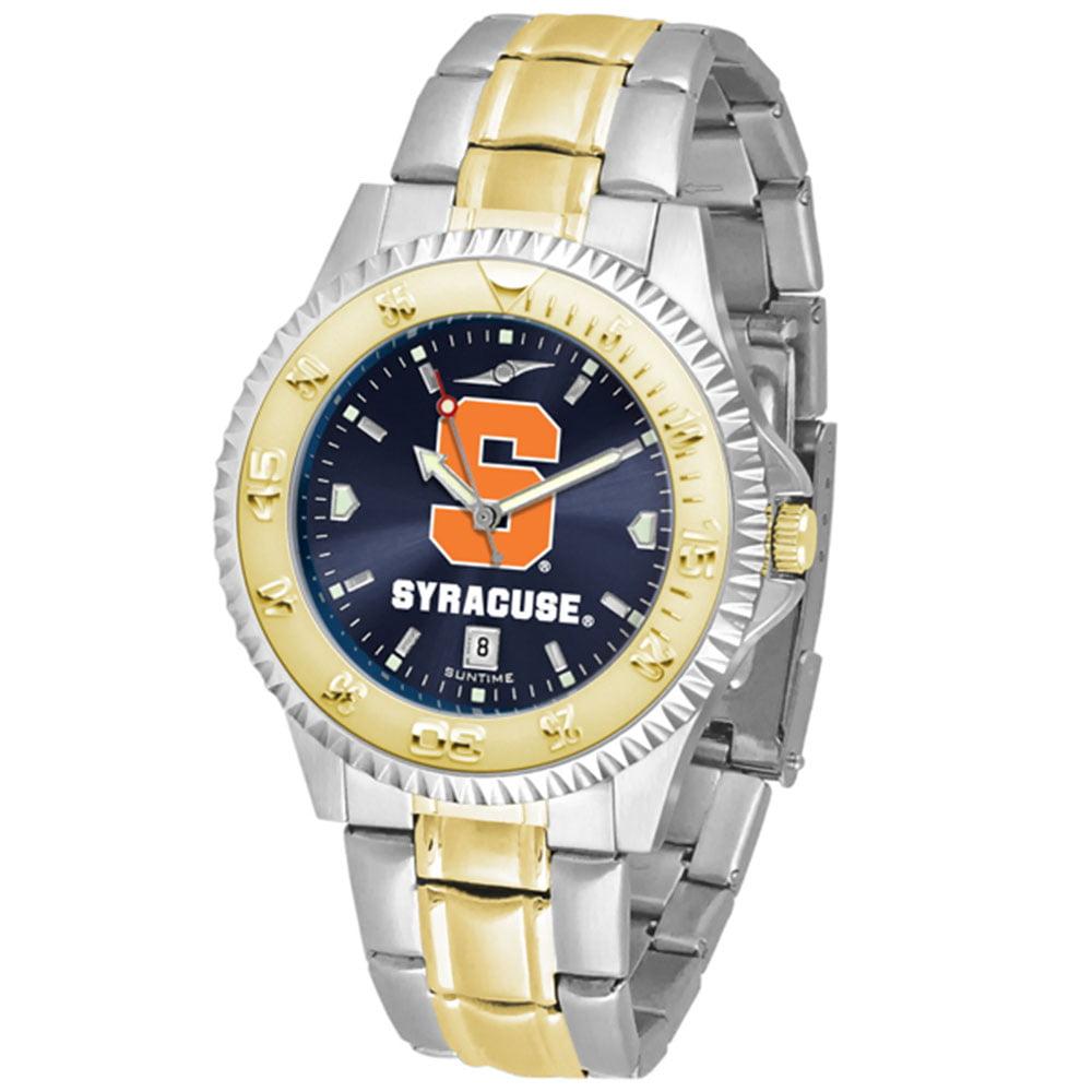 "Syracuse Orangemen NCAA AnoChrome ""Competitor"" men's watch (2-Tone Stainless Steel Band)"