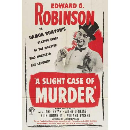 Illuminated Movie Poster Case (A Slight Case of Murder POSTER Movie C Mini Promo )