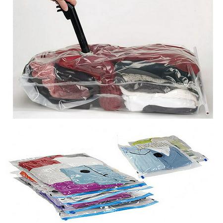 5 Vacuum Compression Bag Storage Organizer Travel Space Saver Seal 17.7