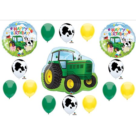 Tractor Birthday Party Balloons Decorations Farm Animal Cow John Deere Shower (MULTI, 1) by, You will receive: By Anagram