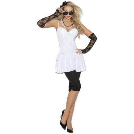 Elegant Moments EM-99067 Rock Star - 6 pc. costume M / White - Ideas For Rock Star Costume