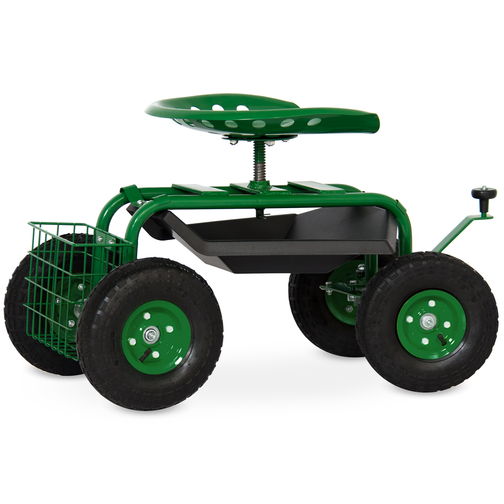Best Choice Products Mobile Rolling Garden Work Seat W/ Tool Tray And  Basket   Green   Walmart.com