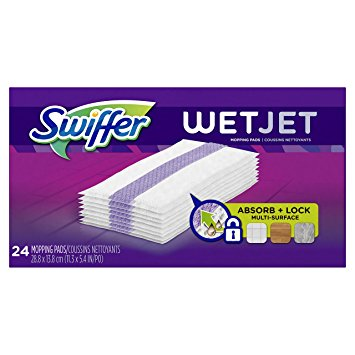 Swiffer WetJet Hardwood Floor, Wet Jet Spray Mop Pad Refills, Original Scent Refill Cloth, 2 Pack (24 Count)