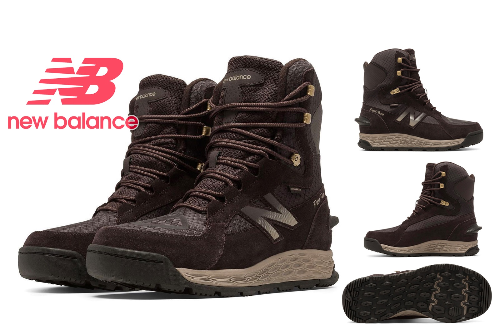 New Balance BM1000BR Men's Fresh Foam 1000 Cold Weather Insulated Boots by New Balance