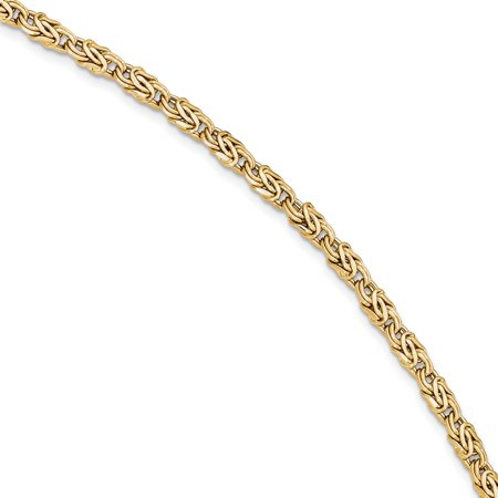 14k Yellow Gold Bracelet 7.5 Inch Chain Fancy Gifts For Women For Her