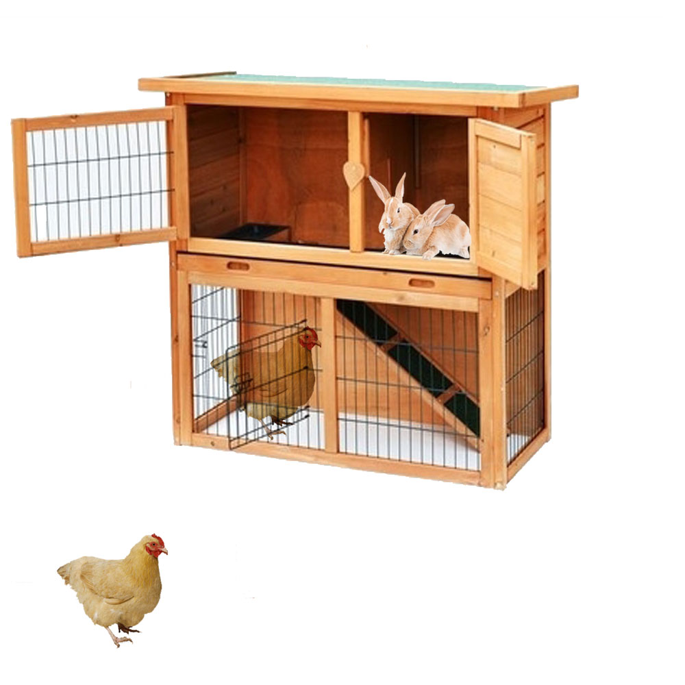Zimtown Wooden Chicken Coop Bunny Rabbit Hutch Pet Cage Wood Small Animal Poultry Cage Run