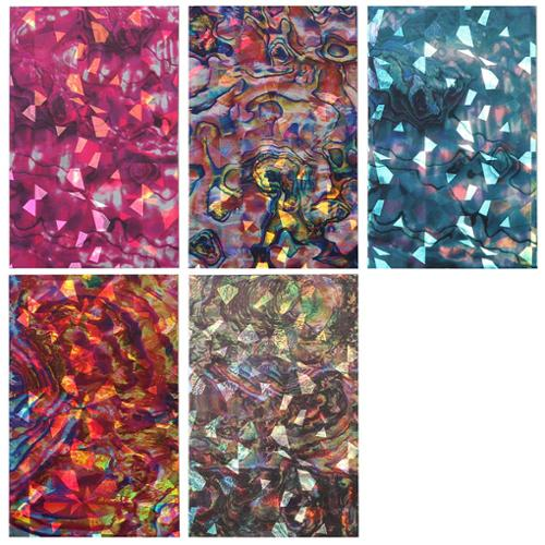 Maniology (formerly bmc) 5pc Brilliantly Colored Holographic Manicure Nail Art Sticker Bundle Set