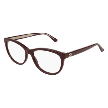 Gucci GG0310O 003 Eyeglasses Burgundy Gold Frame - Gucci Frame