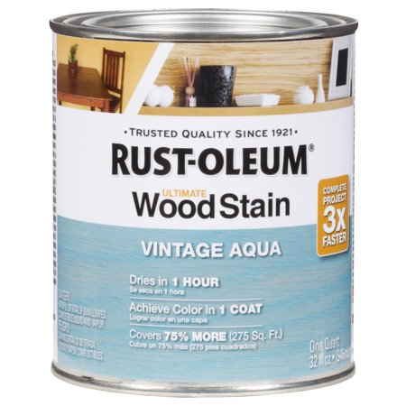 Vintage Aqua Rust Oleum Ultimate Wood Stain Quart