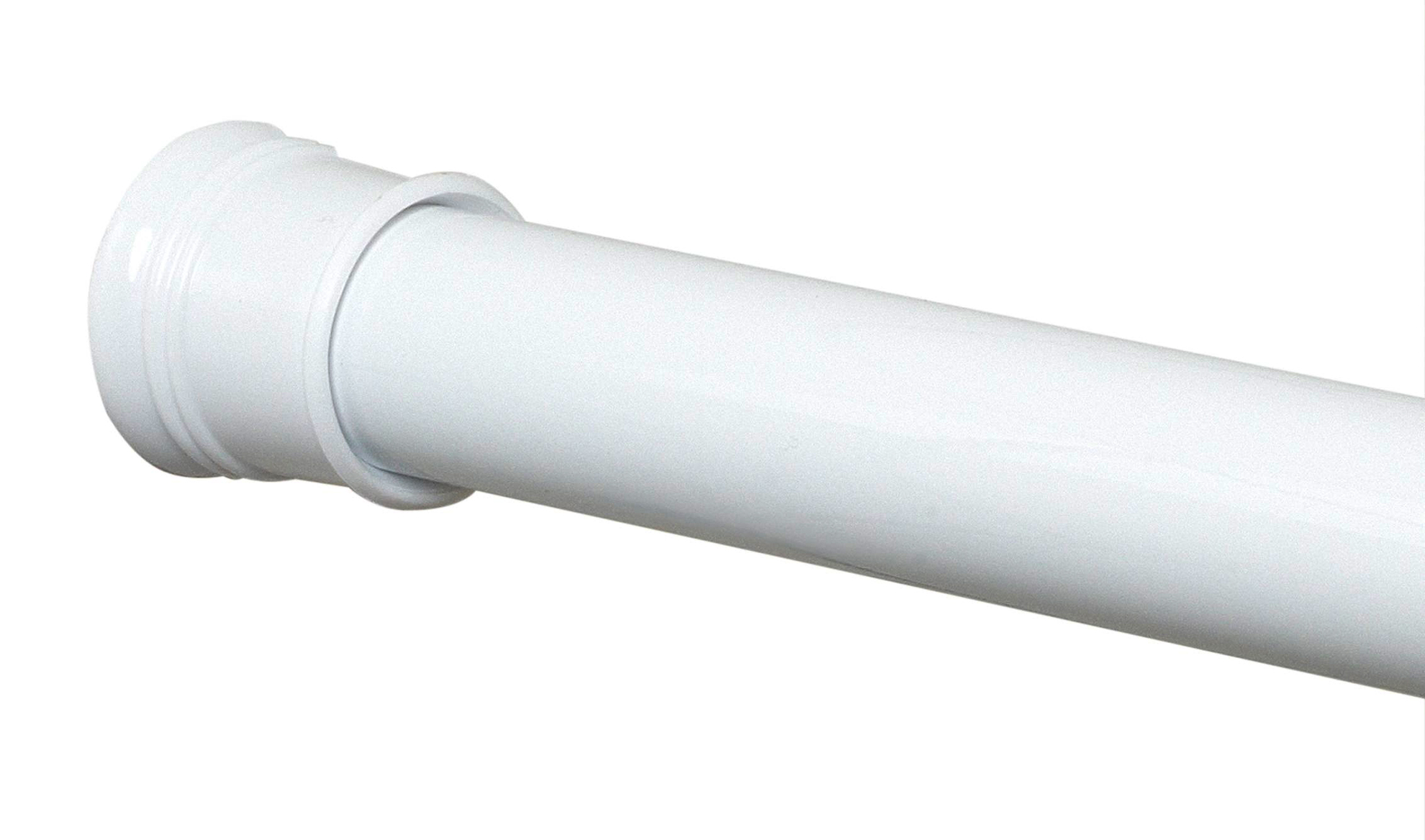 NEW Zenith Twist Tight Shower Curtain Rod White Adjustable to 72 inches
