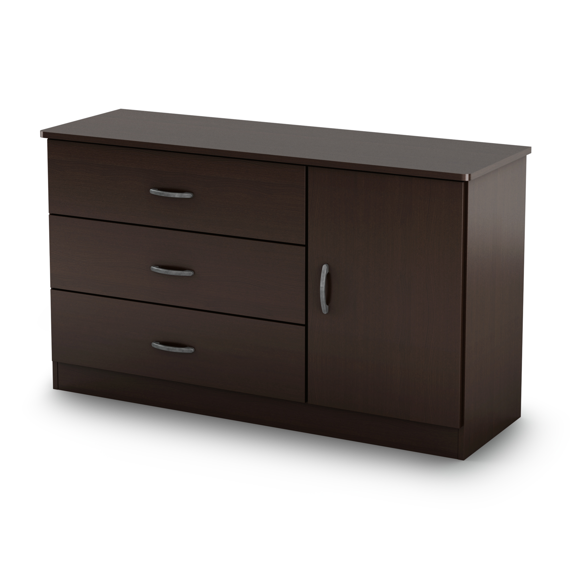 3 drawer dresser with door black white brown chest bedroom for Door furniture