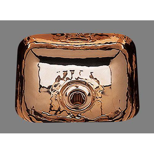 Bates & Bates Sculptured Metals 14'' x 12.25'' Hammertone Rectangular Bar Sink