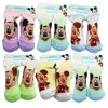 Disney's Mickey Mouse Assorted Color Baby Bootie Socks (3 Pairs, 6-12 Months)