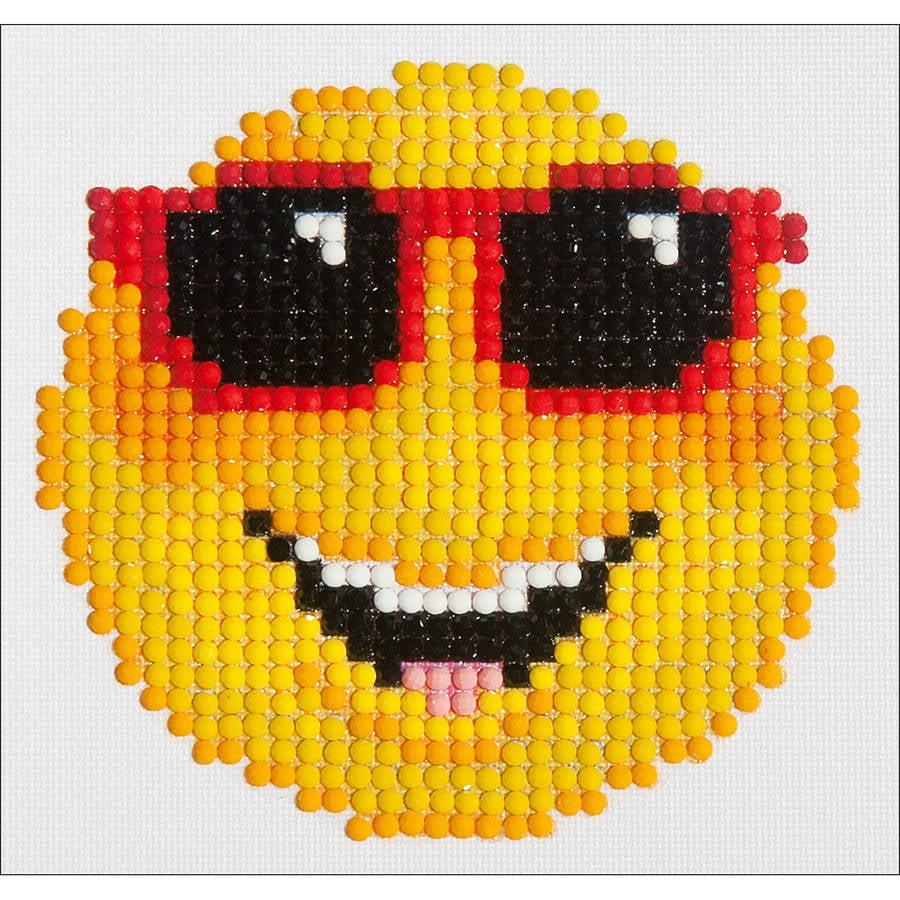 "Diamond Dotz Diamond Embroidery Facet Art Kit, 6"" x 6"", Smiling Face"