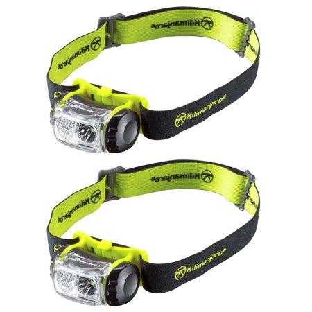 2 Pack Kilimanjaro LED Headlamp 180 Lumens Spot Flood Water Resistant -240234