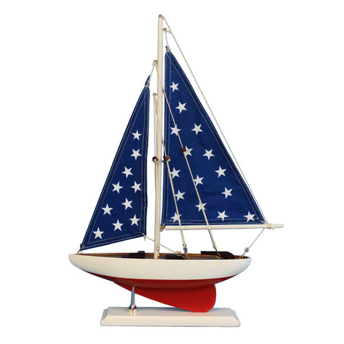 Hand Craft Model Handcrafted Nautical Decor Patriotic Sai...
