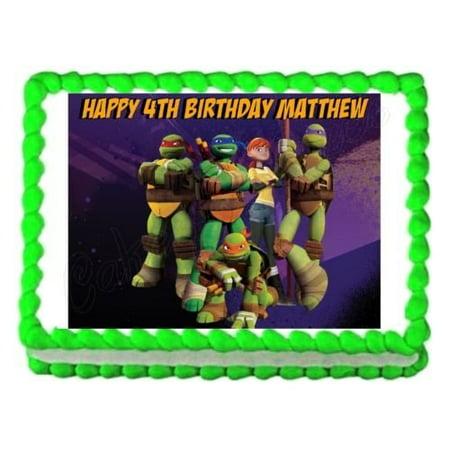 Tmnt Cupcake Toppers (TMNT Teenage Mutant Ninja Turtles party edible cake sheet frosting cake)