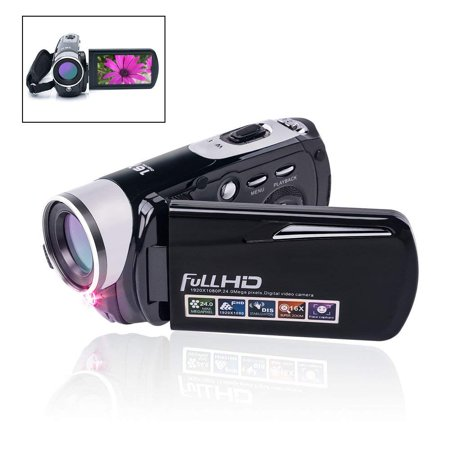 Camcorder Video Camera 24.0MP Digital Camera Full HD 1080p Night Vision Pause Function with 3 LCD Touch Screen