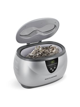 Magasonic Professional Ultrasonic Jewelry Cleaner with Digital Timer for Eyeglasses, Rings, Coins (MGUC500)