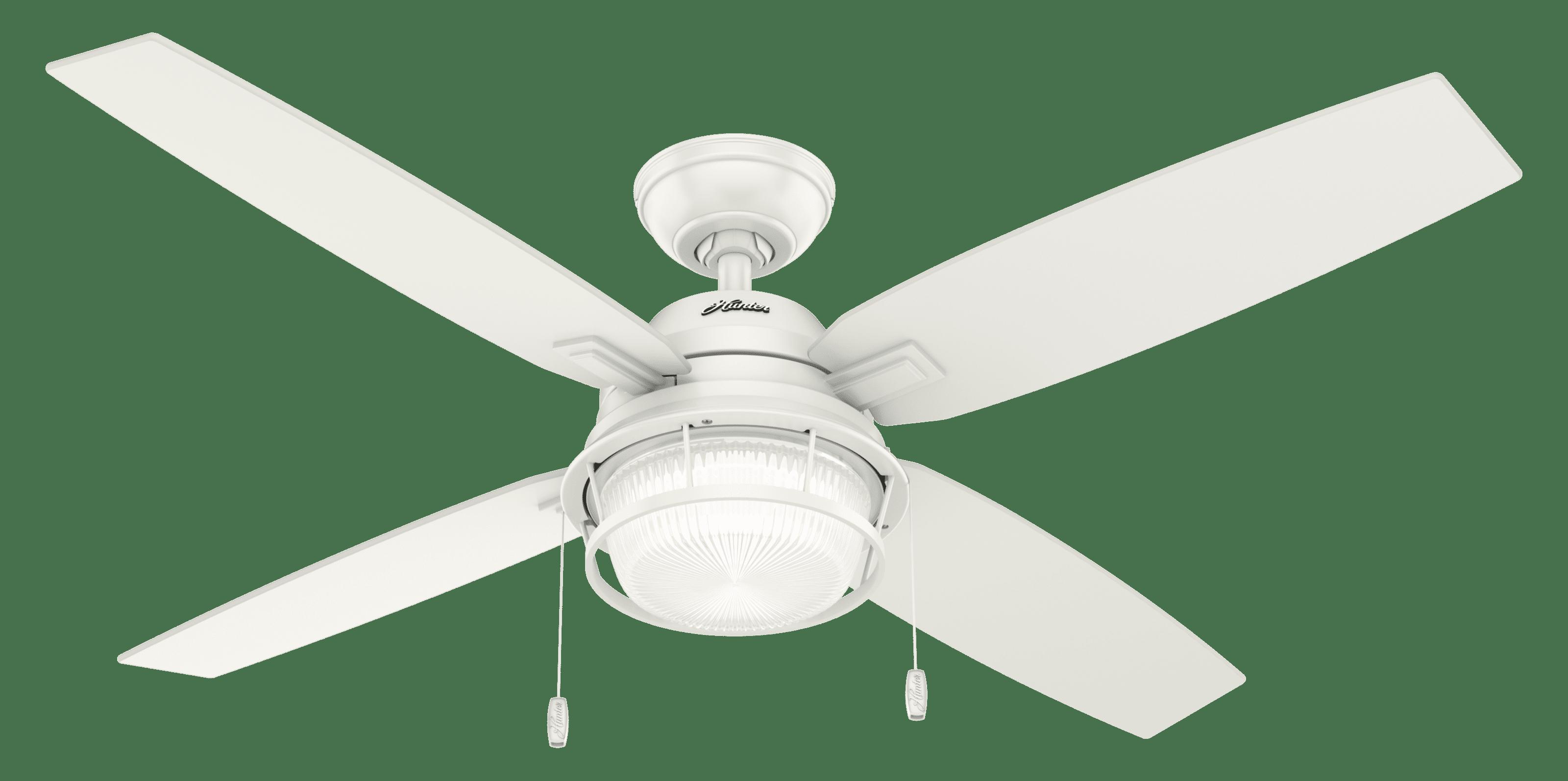 """Hunter 52"""" Ocala Fresh White Ceiling Fan With Light"""