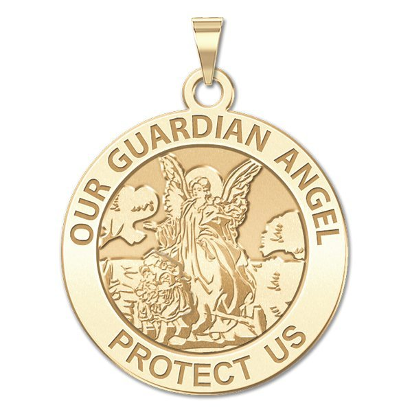 PicturesOnGold Our Guardian Angel - Round Religious Medal...