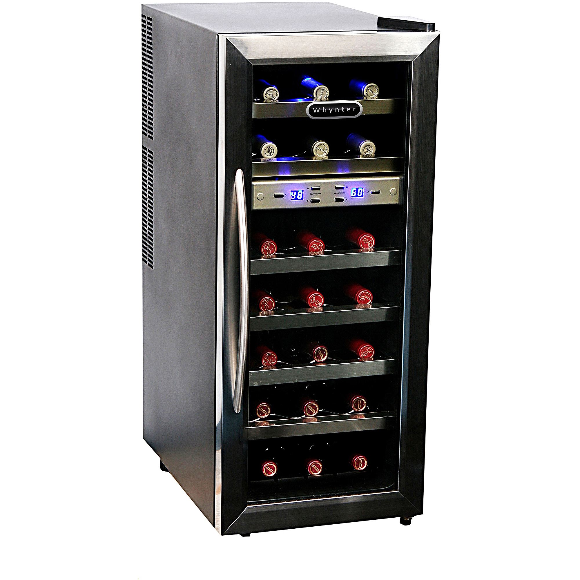 Whynter WC-211DZ 21-Bottle Dual Temperature Zone Wine Cooler