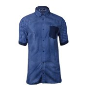 Buffalo David Bitton Men's Gingham Contrast Pocket Shirt