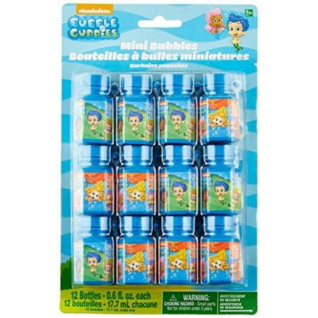 Bubble Guppies .6oz Bubble Favors (12 Pack) - Party Supplies - Bubble Guppies Favors