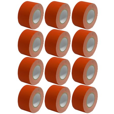 Seismic Audio 12 Pack of Gaffer's Tape - Red 3 inch Roll 60 Yards per Roll Gaffers Tape - SeismicTape-Red603-12Pack