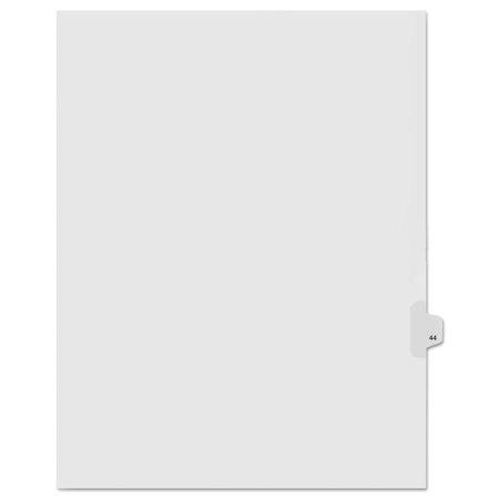 """90000 Series Legal Exhibit Index Dividers, Side Tab, Printed """"44"""", 25/Pack"""