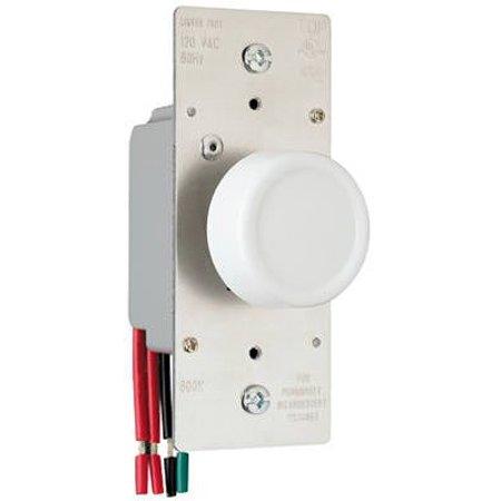 Pass & Seymour R603PLTKV 600-Watt Light Almond 3-Way Maximum Rotary Dimmer Switch (Dimmer Switch Rotary)