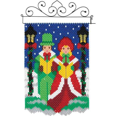 Herrschners® Christmas Carolers Mini Beaded Banner Kit (Christmas Carolers Decorations Sale)