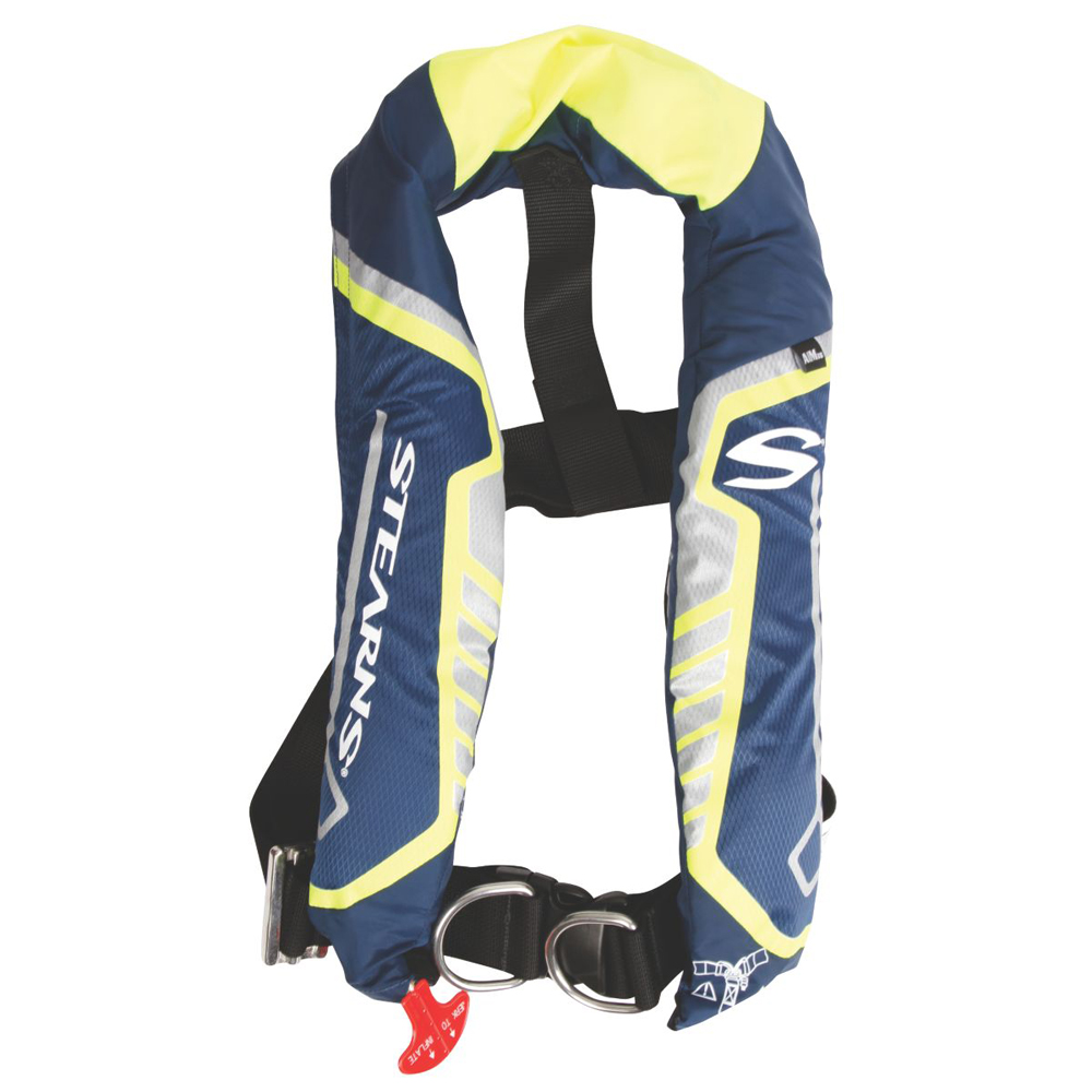 Stearns C-Tek 38G A/M Inflatable Life Vest - Blue/Yellow