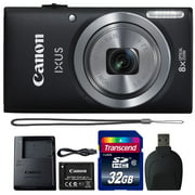 Canon Powershot Ixus 185 / ELPH 180 20MP Compact Digital Camera Black with 32GB Accessory Bundle - Best Reviews Guide