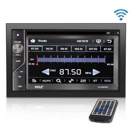 PYLE PLDN63BT - Upgraded Double Din Touchscreen | DVD CD Player | Bluetooth Handsfree Calling | 6.5 in LCD Monitor | USB/Micro SD Card Slot | AM FM Radio | RCA to AUX Input | Remote Control