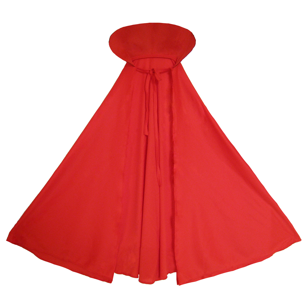 SeasonsTrading Child Red Cape with Collar Halloween Costume Accessory