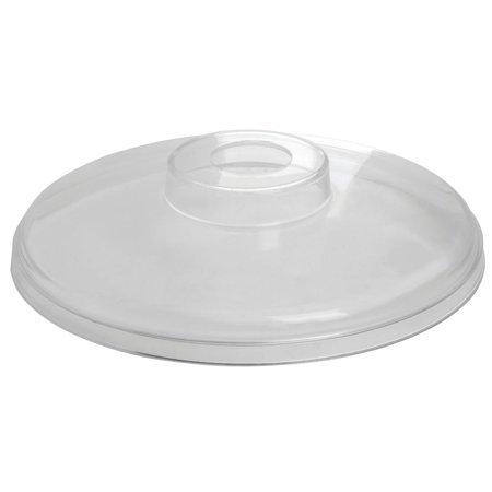 "Carlisle ColdmasterClear Acrylic Pump Cover Only - 6 1/4""Dia x 1/2""H"